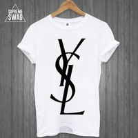 Mens supreme swag hipster fashion t-shirt celine YSL Homies Obey rihanna Cross OFWGKTA