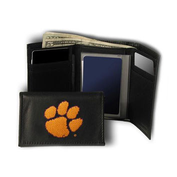 Clemson Tigers NCAA Embroidered Trifold Wallet