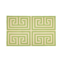 Trina Turk Greek Key Hook Rug - Green