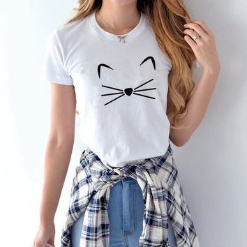 2017 Harajuku Totoro Womens T-Shirts Funny Cartoon O-neck Alien Baratas Female Shirts Tops  Couple Clothes for Women Top