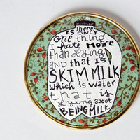Parks & Rec Fridge Magnet // Skim Milk Fridge Magnet // Parks and Recreation // Ron Swanson // Nerdy Kitchen Art // Gift for A Foodie