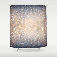 Glimmer of Light (Ombré Glitter Abstract) Shower Curtain by Soaring Anchor Designs