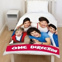 One Direction Craze Blanket Fleece Panel 100% Polyester