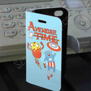 Avenger time Finn and Jack Adventure Leather Folio Case for iPhone and Samsung Galaxy