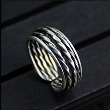Gift Stylish Jewelry Shiny New Arrival 925 Silver Vintage Accessory Korean Ring [7652920839]