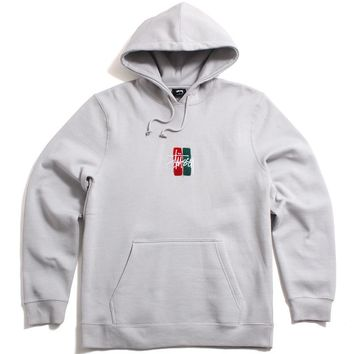 Bars Logo Applique Pullover Hoody Fog