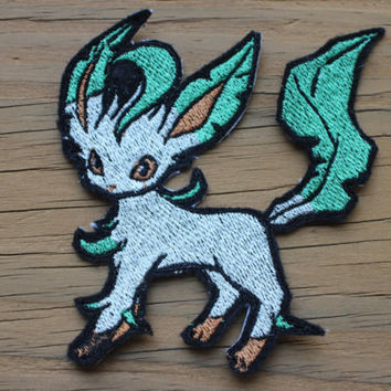 Sylveon Glaceon Leafeon Eeveelution iron-on patch set 3