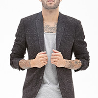 Classic Tweed Blazer Charcoal Heather