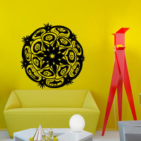 Mandala Yoga Wall Decal Vinyl Sticker Wall Decor Home Interior Design Art Murals NA2