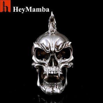 Skull Skulls Halloween Fall HeyMamba Human  Resin Punk Rock Decorative  Tattoo Bar Locomotive Halloween Ornaments Resin Craft Decoration Calavera