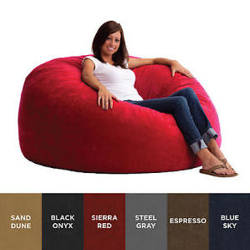 FufSack 5-foot King Memory Foam/ Microfiber Bean Bag Chair