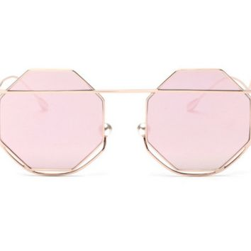 Meditative Aviator Round Sunnies