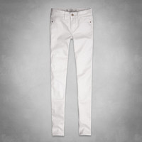A&F Mid Rise Coated Jeggings