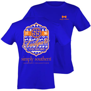 Simply Southern Preppy Football Tailgates With The Best RSVP Blue T-Shirt