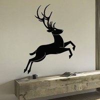 Wall Decal Vinyl Sticker Wild Animal Deer Reindeer Decor Sb430