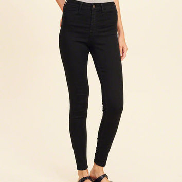 Girls High-Rise Jean Leggings | Girls Bottoms | HollisterCo.com