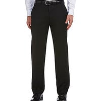 Ralph Ralph Lauren Flat-Front Plain Dress Pants - Black