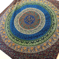 Indian Floral Blue Mandala Hippie Tapestry Wall Hanging Bohemian Hippie Bedding Throw Bedspread ethnic home decorative