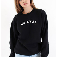 Go Away Sweater - Black