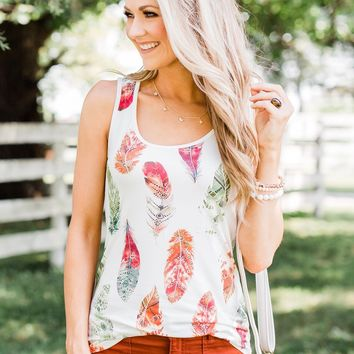 Catching Dreams Aztec Feather Tank Top - Fall
