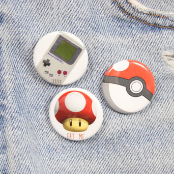 Nintendo Game Boy 1.25 Inch Pin Back Button Badge