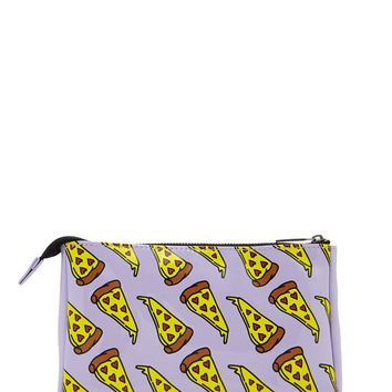 Pizza Print Makeup Bag