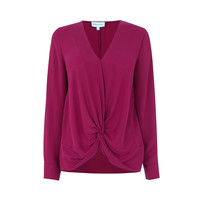 KNOT FRONT LONG SLEEVE TOP