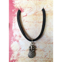 Pineapple Choker (faux suede cord)