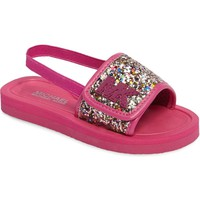 MICHAEL Michael Kors Eli Glow Glitter Slide Sandal (Toddler, Little Kid & Big Kid) | Nordstrom