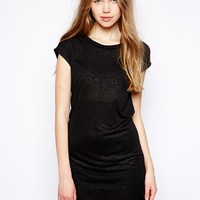 Traffic People Split Dress - Black