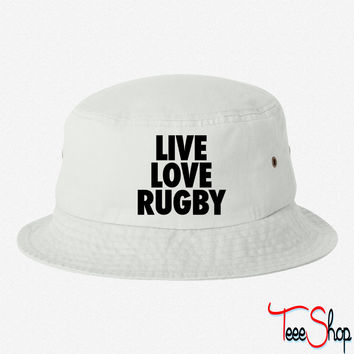 Live Love Rugbyr bucket hat