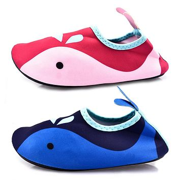 Kids Unisex Non-slip Swim Water Shoes Barefoot Aqua Skin Socks Shoes for Beach Pool Surfing Quick-drying Breathable Shoes