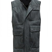 Star Wars Han Solo Black Leather Vest - Best Deal