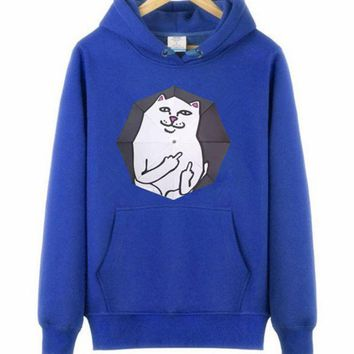 DCCKUNT Trendy  Supreme Unisex Cat Meow Hoodies Sweater