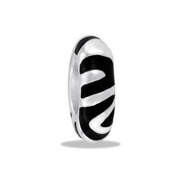 DaVinci Beads Black And Silver Zebra Jewelry