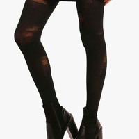 Halloween Millie Distressed Tights | Boohoo