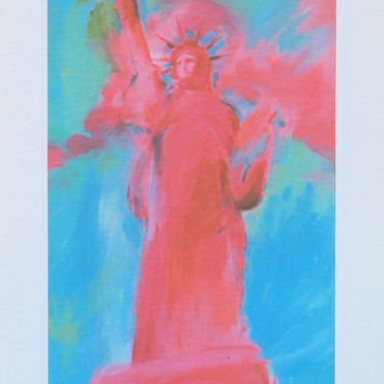 Statue of Liberty V, Limited Edition Lithograph, Peter Max