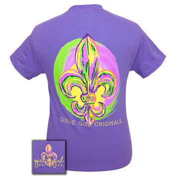 Girlie Girl Originals Preppy Watercolor Fleur De Lis T-Shirt