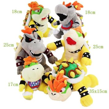 Super Mario party nes switch 17-35cm Koopa Bowser Plush cartoon toys Hot Game  Bros Koopa Bowser 6styles cute soft stuffed gray yellow koopa doll AT_80_8