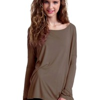 Authentic Piko Long Sleeve Top, Brown