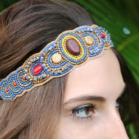 World Wanderer Headband in Blue