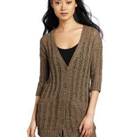 Kensie Women`s Tape Yarn Cardigan $79.99