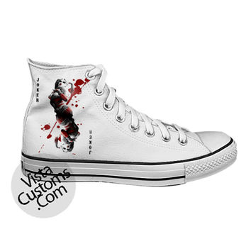 Harley Quinn joker White shoes New Hot Shoes