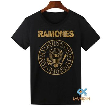 2016 Summer RAMONES T-shirt Unisex Punk Rock Vintage Tops Tee Shirts Funny Hipster Harajuku Cotton Camiseta For Men Women