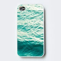 iPhone Case - Blue Water - cell phone cover- iPhone 4 and iPhone 4S cover - accessory - geekery, nature photo, tree photo, photo case