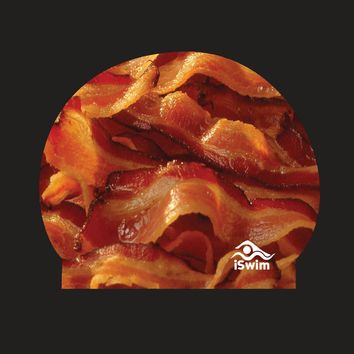 Bacon Silicone Swim Cap PREORDER | iSwimShop