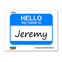 Jeremy Hello My Name Is Sticker