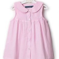 Casual Girls Lapel polos dress Baby Cotton Clothes Brand New Kids stripe dress Children's clothing Children clothes 8069