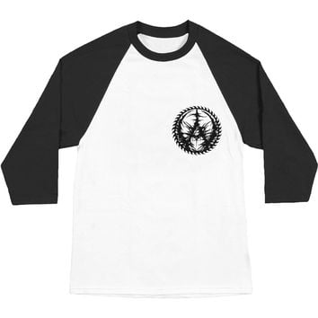 Aborted Men's  666 Death Metal Baseball Jersey White Rockabilia