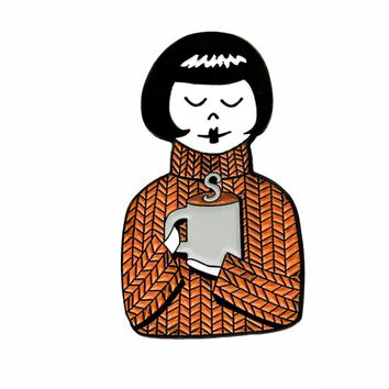 Sweater Weather Enamel Pin